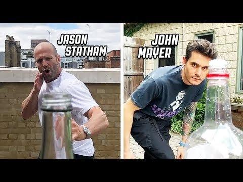 Jason Statham'ın da Katıldığı  Son Sosyal Medya Trendi Şişe Kapağı Challenge